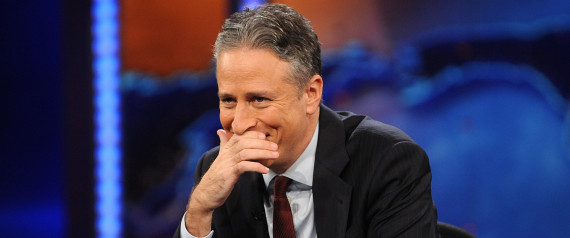 "Television host Jon Stewart reacts during a taping of  ""The Daily Show with Jon Stewart,"" in New York, on Wednesday Nov. 30, 2011. (AP Photo/Brad Barket)"